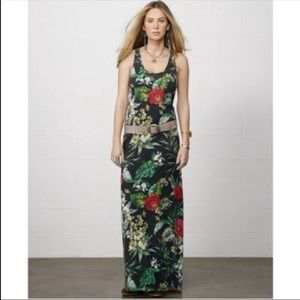 Ralph Lauren Hawaiian Print Maxi Tank Dress